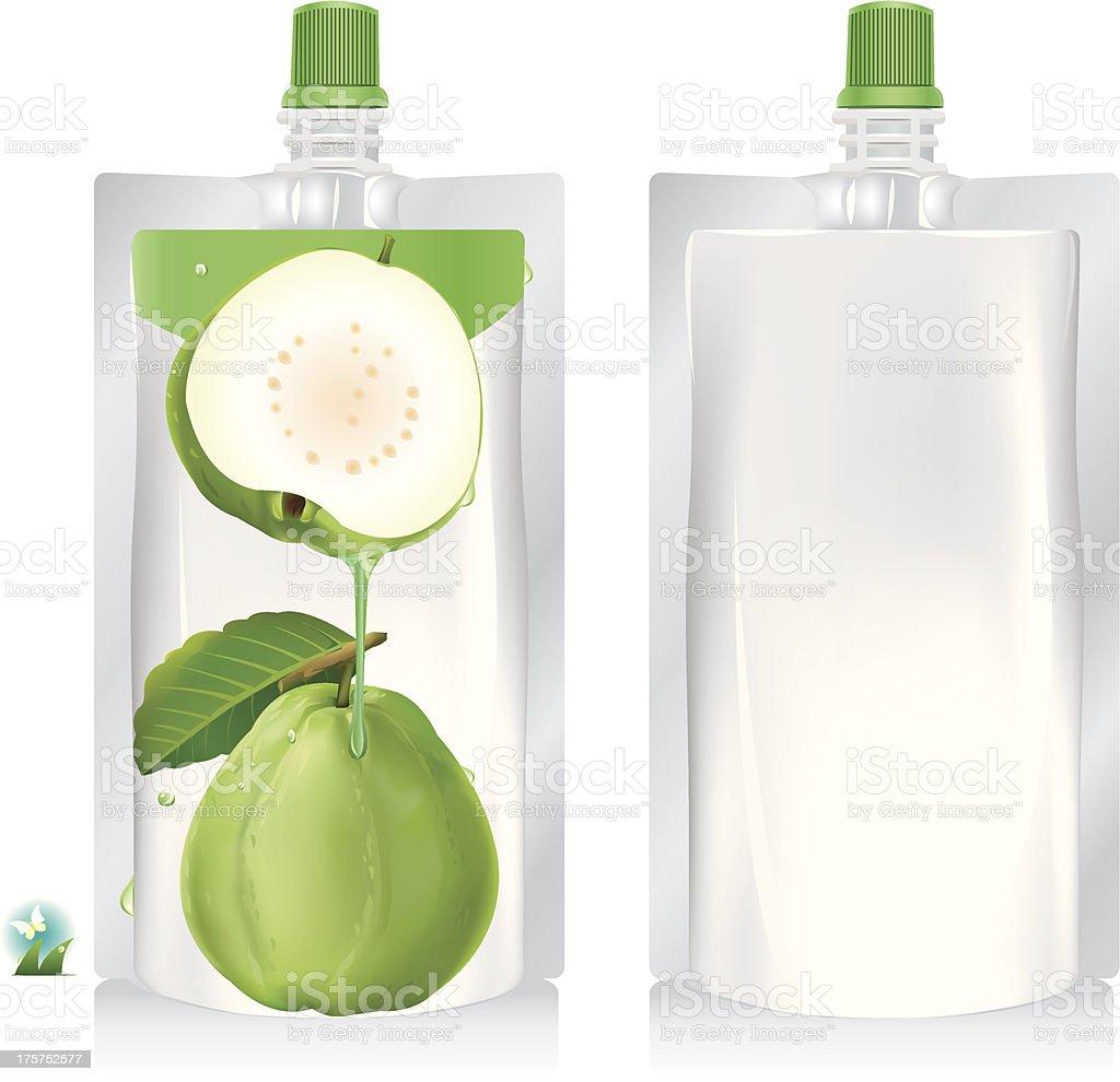Guava juice packaging design. royalty-free stock vector art
