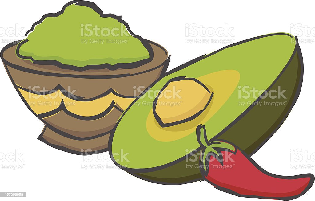 Gucamole royalty-free gucamole stock vector art & more images of appetizer
