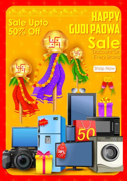 gudi padwa verkauf - padua stock-grafiken, -clipart, -cartoons und -symbole