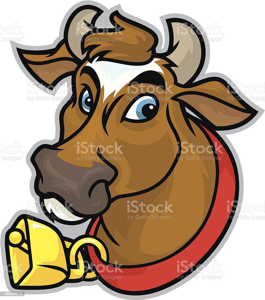 Guernsey Cow Mascot vector art illustration