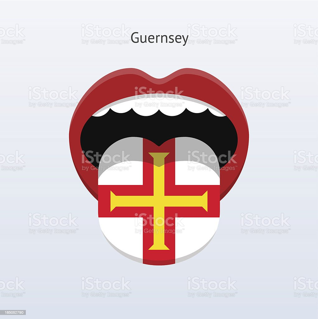Guernsey language. Abstract human tongue. royalty-free stock vector art