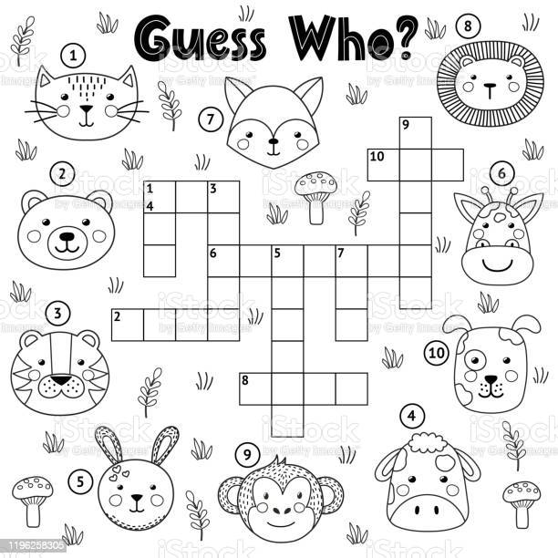 Guess who black and white crossword for kids vector id1196258305?b=1&k=6&m=1196258305&s=612x612&h=lbbe362eg8dahy1to8sczdtoi3ppinlta9tawvepcgc=