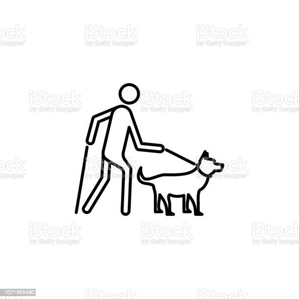Guide dog icon element of disabled icon for mobile concept and web vector id1021955490?b=1&k=6&m=1021955490&s=612x612&h=dy4qmldwzln8nu5edypram7n2exrrnwd6g9jckmizok=