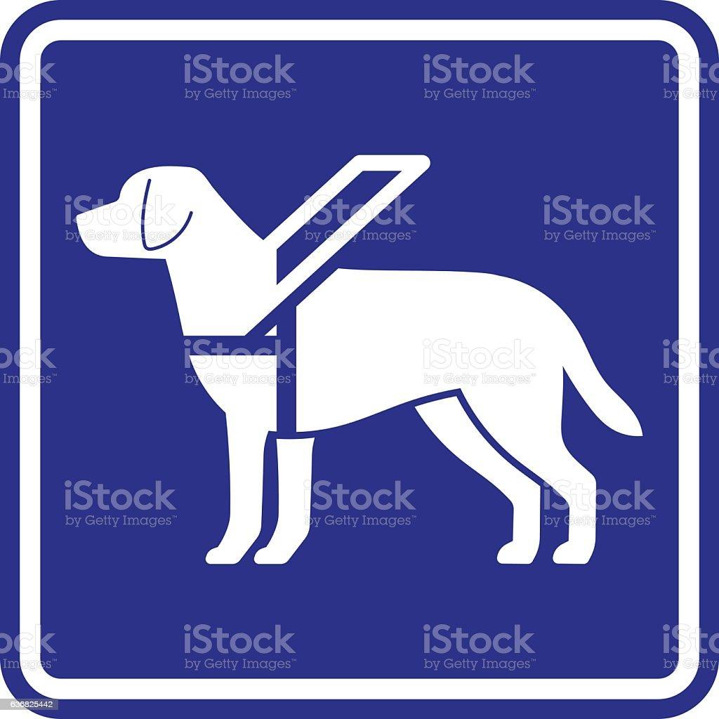 Guide dog sign vector art illustration