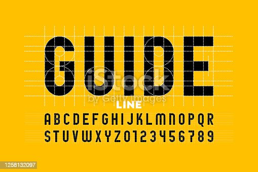 istock Guide line font 1258132097