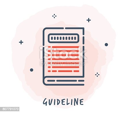 Line Style Vector Illustration for Books.