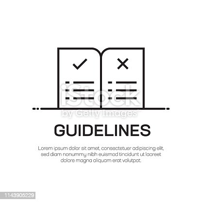 Guidelines Vector Line Icon - Simple Thin Line Icon, Premium Quality Design Element