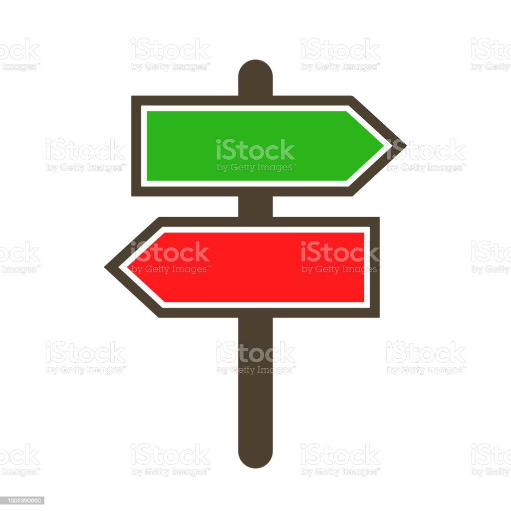 guidepost and pointing wooden arrows index road signs stock vector