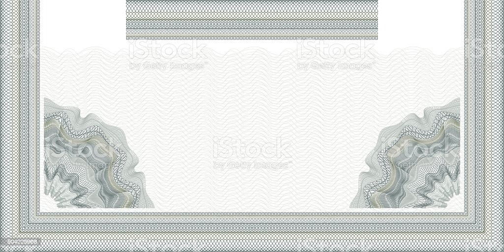 guilloche decorative element for design certificate and diploma vector art illustration