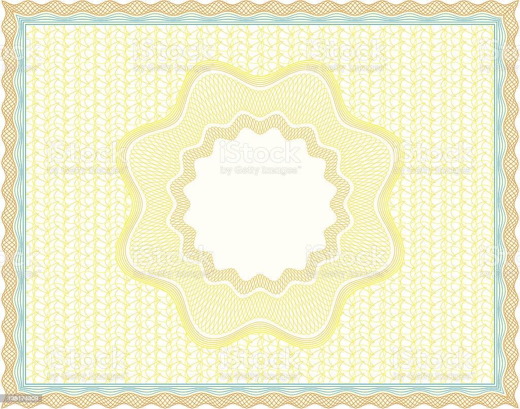 Guilloche diploma royalty-free stock vector art