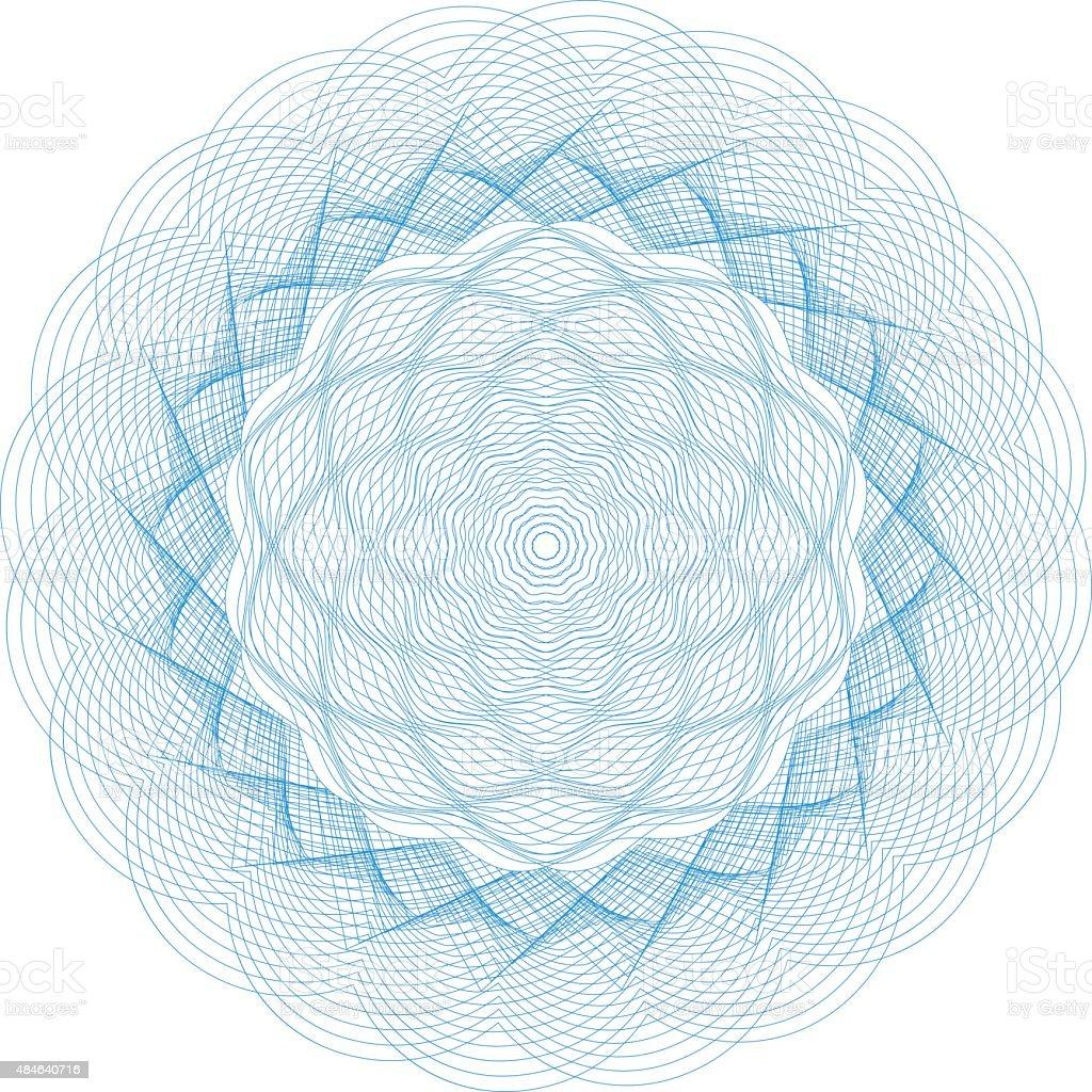 Guilloche Element vector art illustration