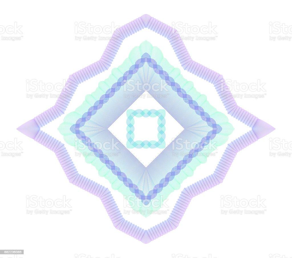 Guilloche elements set vector art illustration
