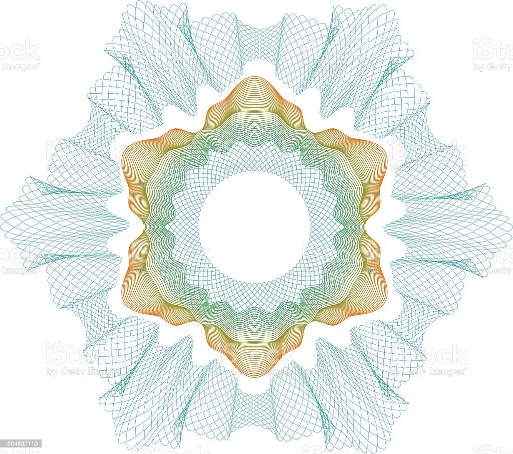 Guilloche elenent for certificate or money design vector art illustration