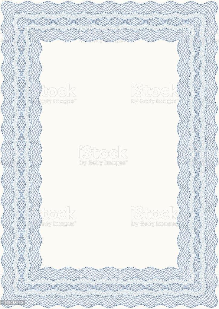 Guilloche frame royalty-free stock vector art