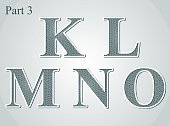 guilloche letters K L M N O