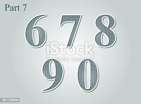 istock Guilloche numbers diploma certificate money design element 941194844