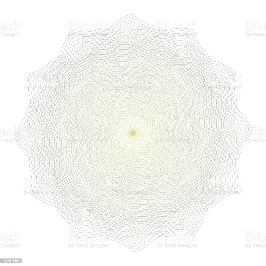 Ilustración de Vector De Roseta Labrada Elementos Decorativos Roseta ...