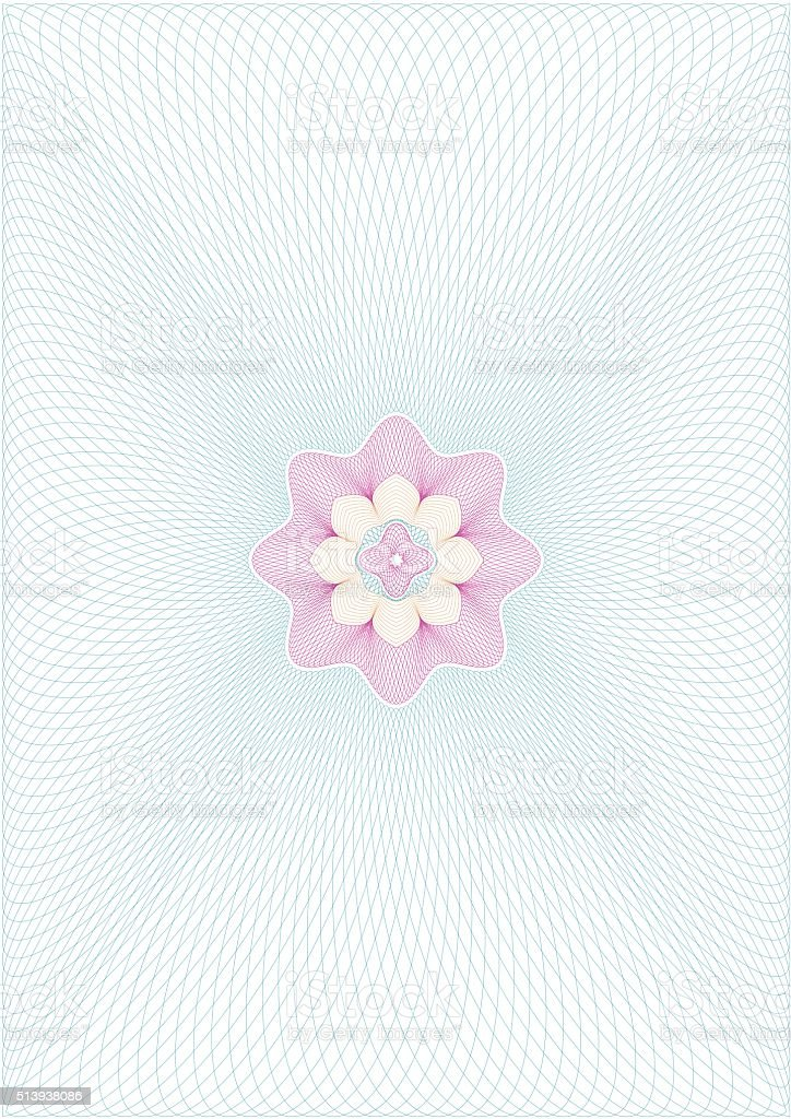 Guilloche vector background grid with rosette in centre vector art illustration