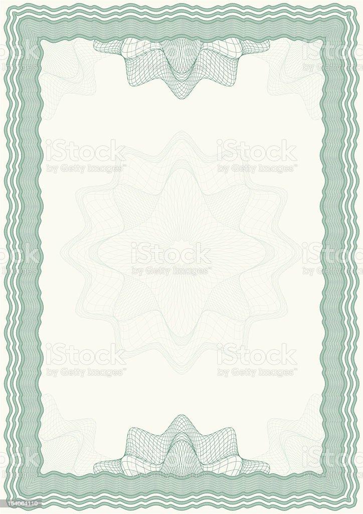 Guilloche vector frame royalty-free stock vector art
