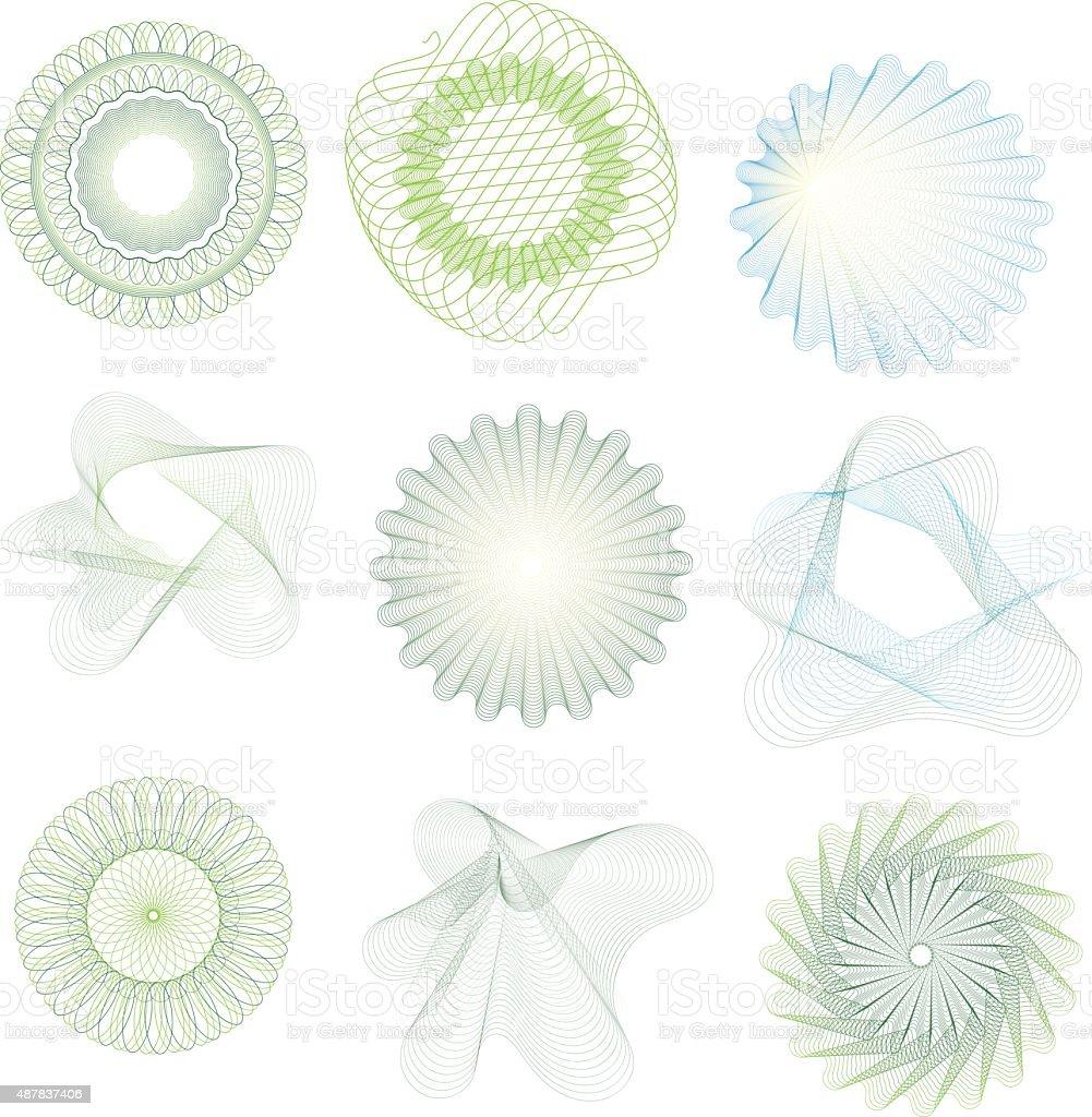 guilloche vector art illustration