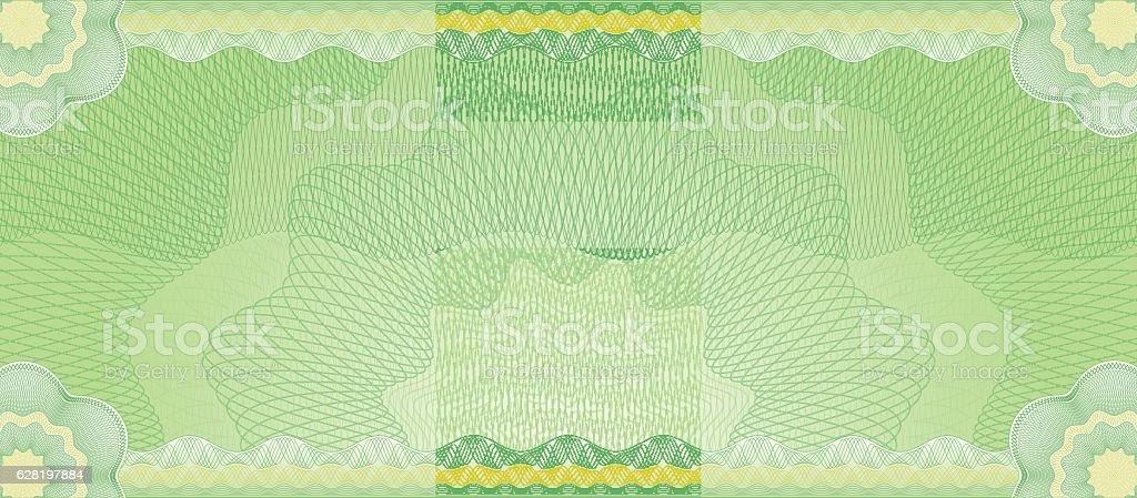 Guilloches Series - Green background banner – Vektorgrafik
