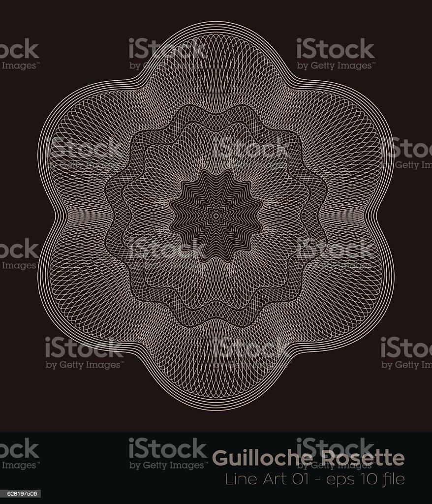 Guilloches Series of Rosette Seals – Vektorgrafik