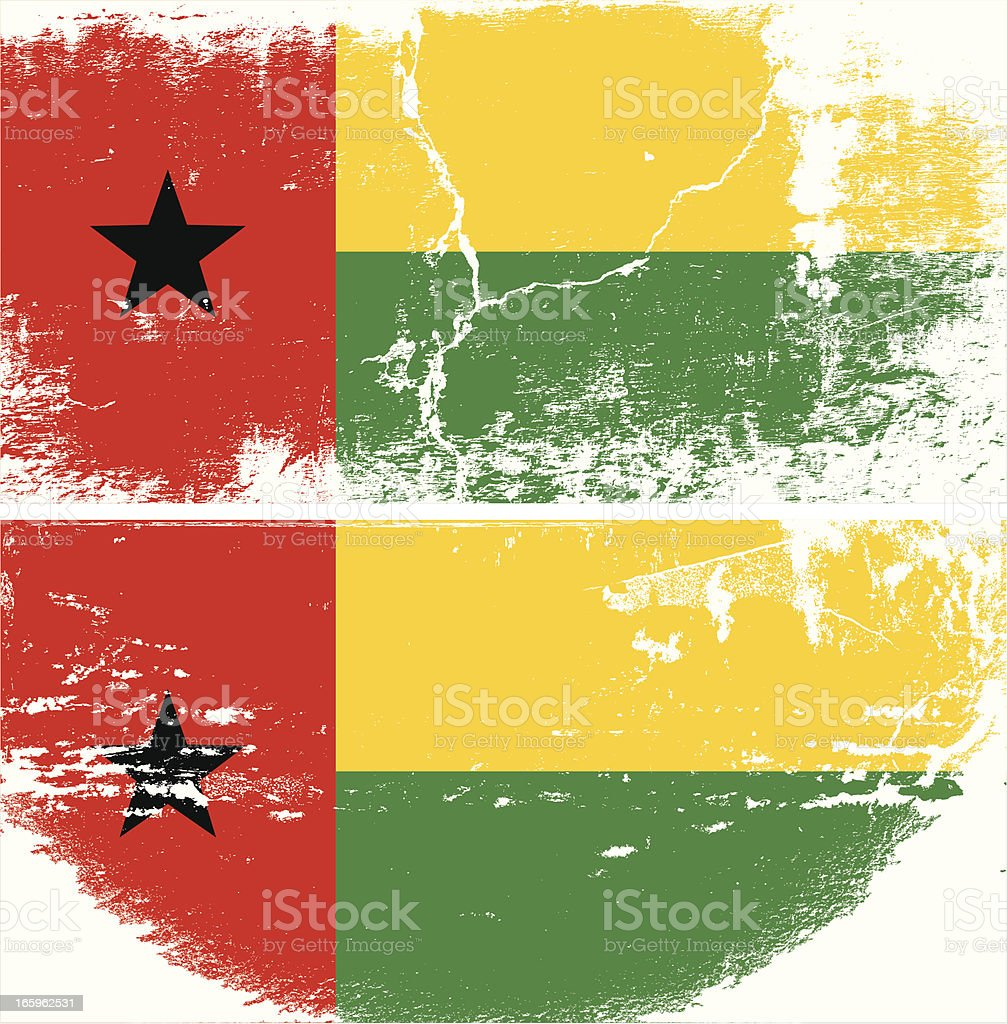 Guinea Bissau Grunge flag royalty-free stock vector art