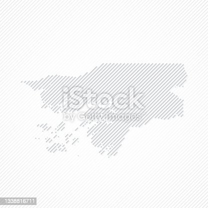 istock Guinea Bissau map designed with lines on white background 1338816711