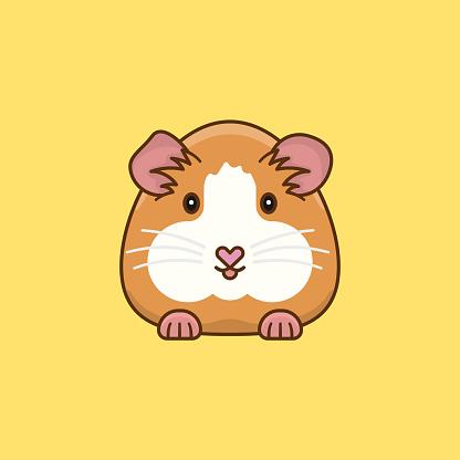 Guinea Pig cartoon vector illustration
