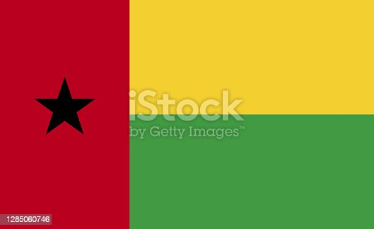istock Guinea-Bissau national flag in exact proportions - Vector 1285060746