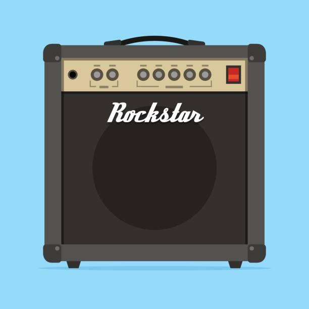 Guitar amp amplifier flat vector illustration vector art illustration