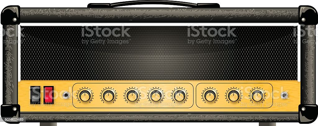 guitar amp head vector art illustration
