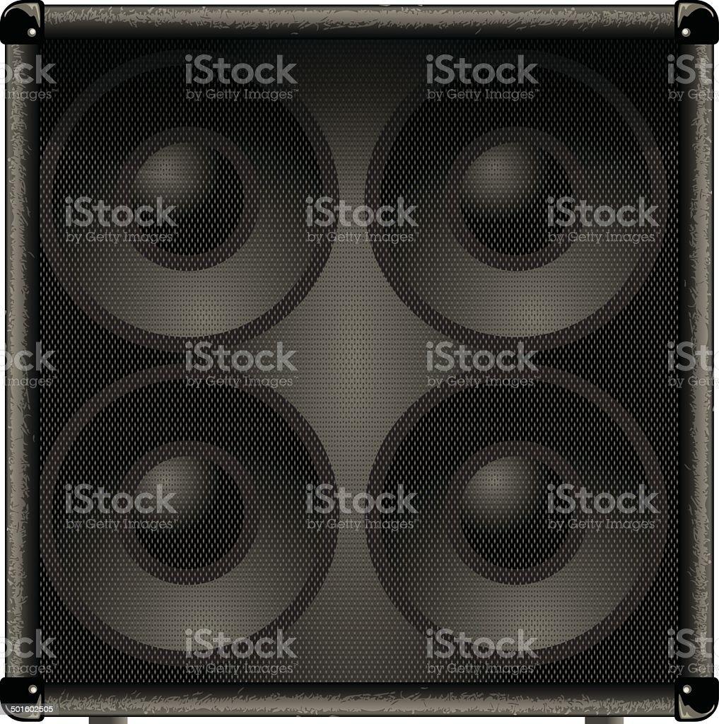 guitar amp speaker vector art illustration