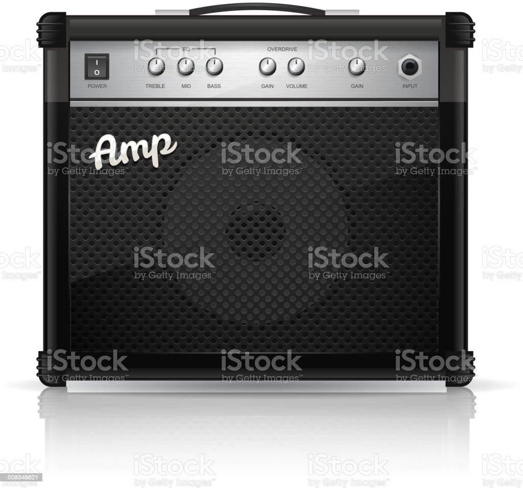 Guitar Amp vector art illustration