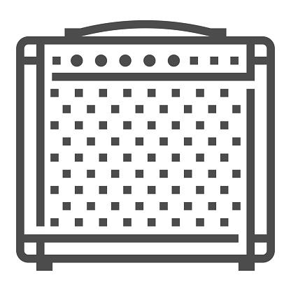 Guitar Amplifier icon, square line vector icon.