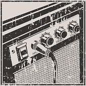 Guitar Amplifier Retro Style