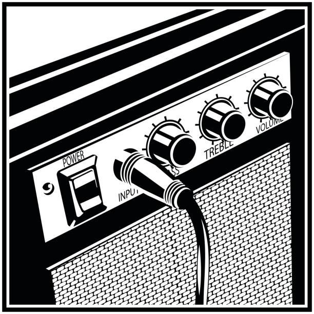 Guitar Amplifier Symbol vector art illustration