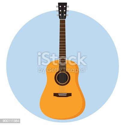 istock guitar Flat Design 900111384