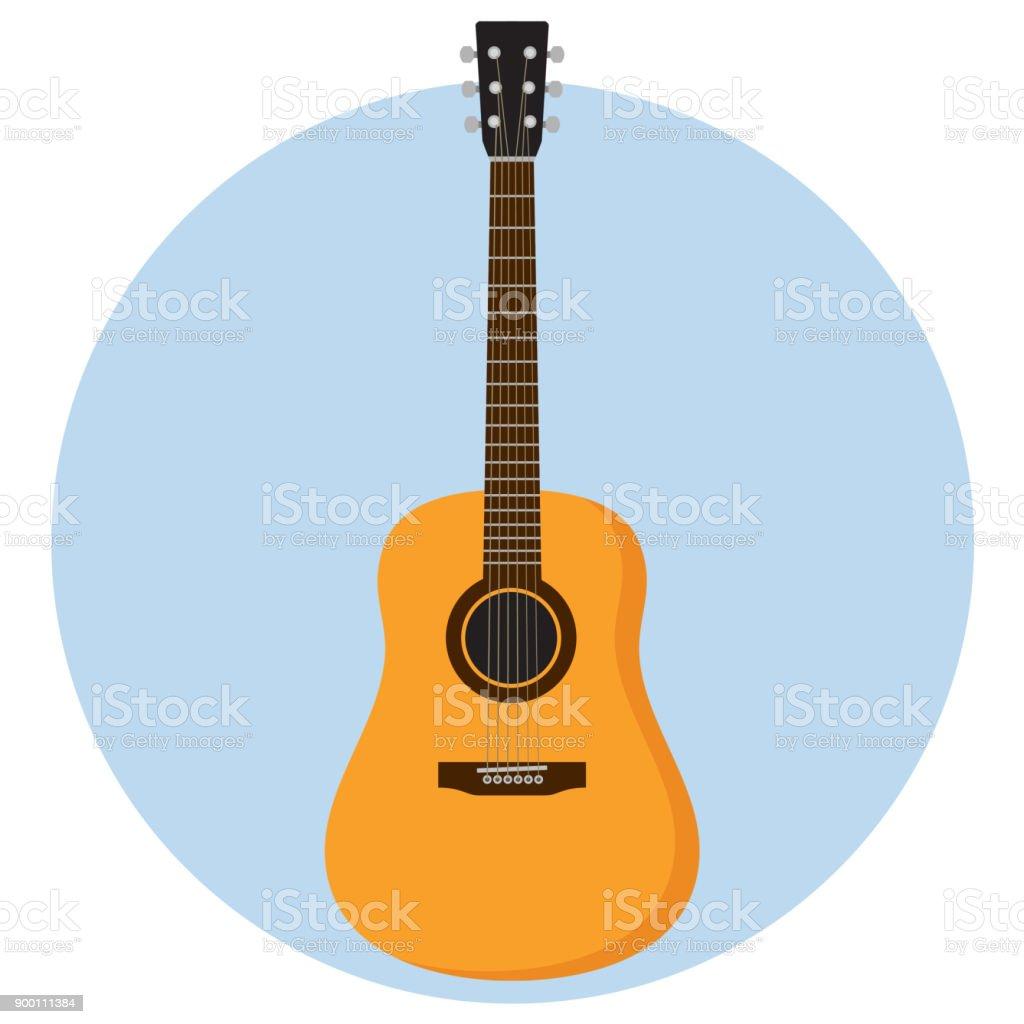 guitar Flat Design vector art illustration