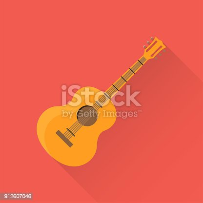 istock Guitar Flat Icon 912607046