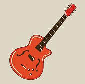 Guitar flat vector illustration