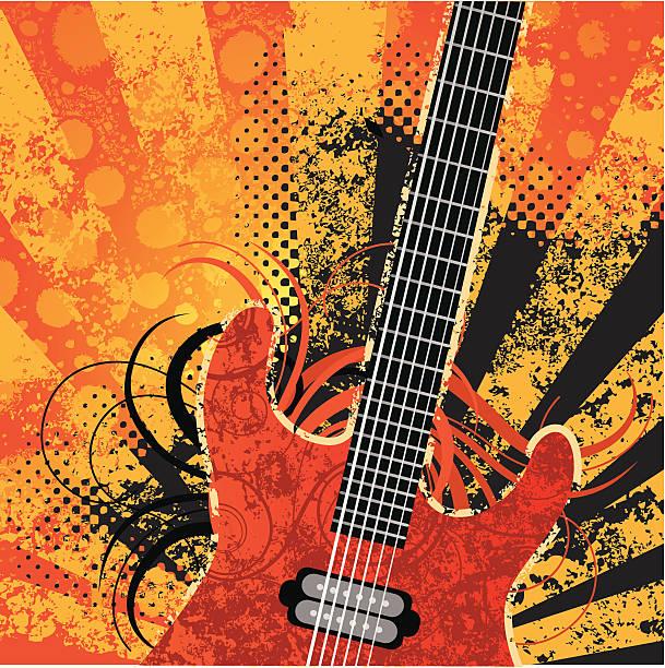 Gitarre grunge – Vektorgrafik
