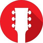 istock Guitar Head Icon Silhouette 488279080