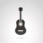 istock Guitar icon isolated on white background. 687549426
