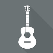 Guitar icon. Music backgrond