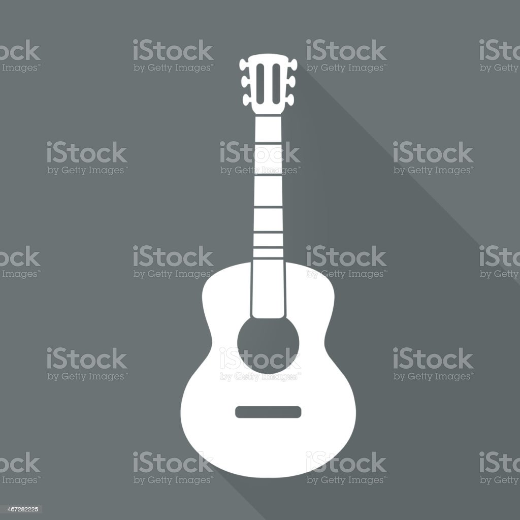 Guitar icon. Music background vector art illustration