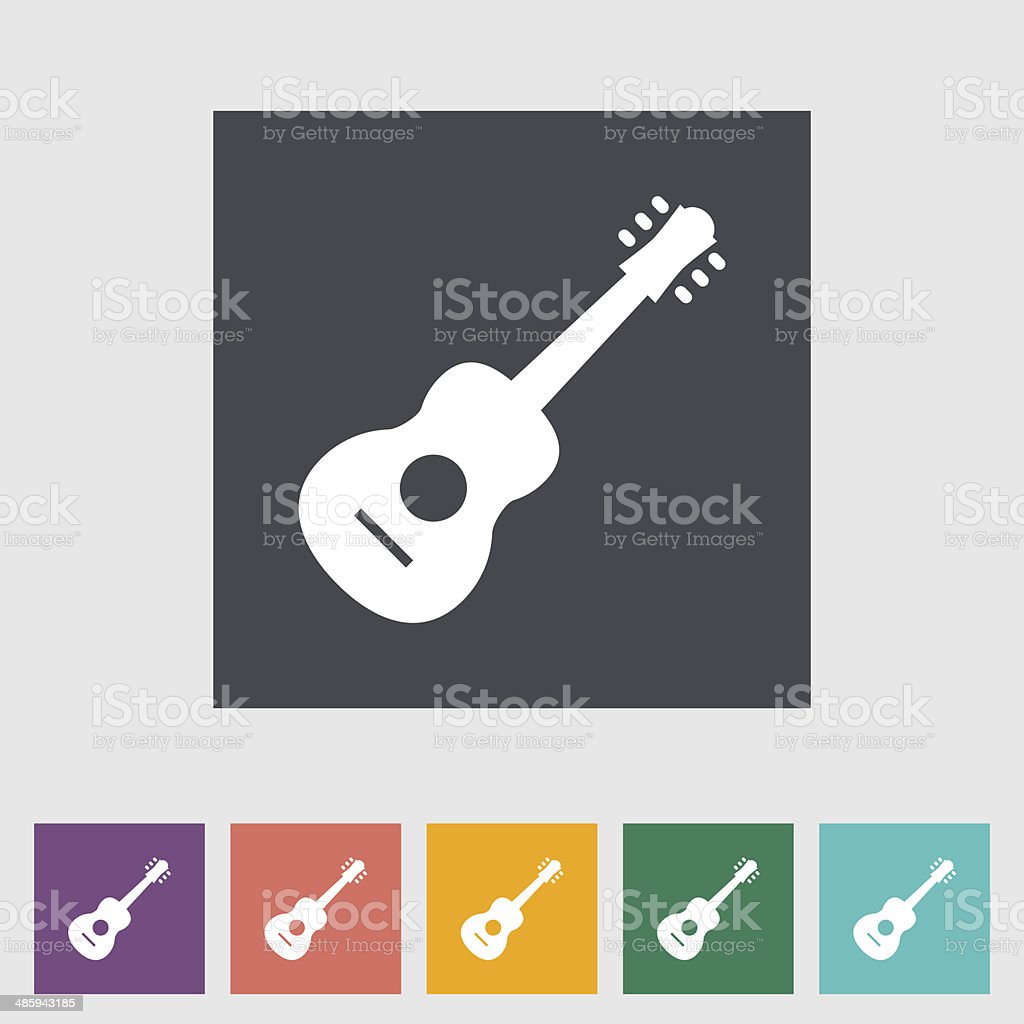 Guitar icon vector art illustration