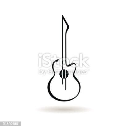 istock Guitar icon 513204861