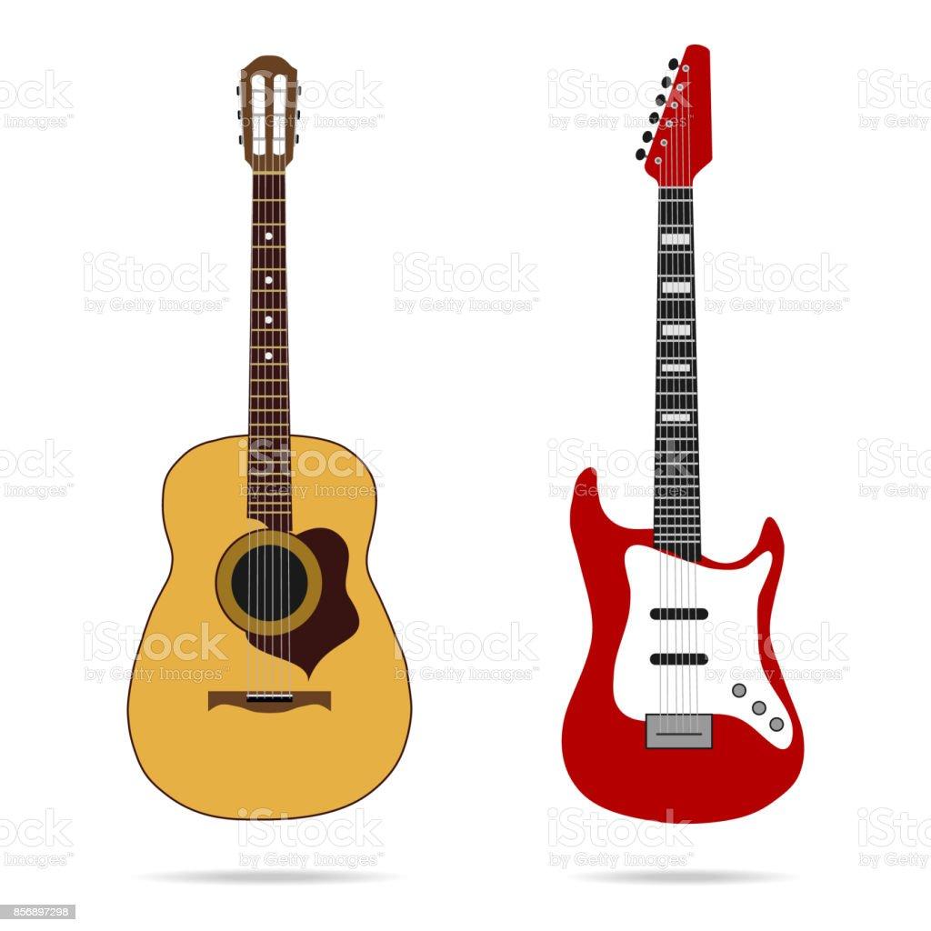 Guitar icon vector art illustration