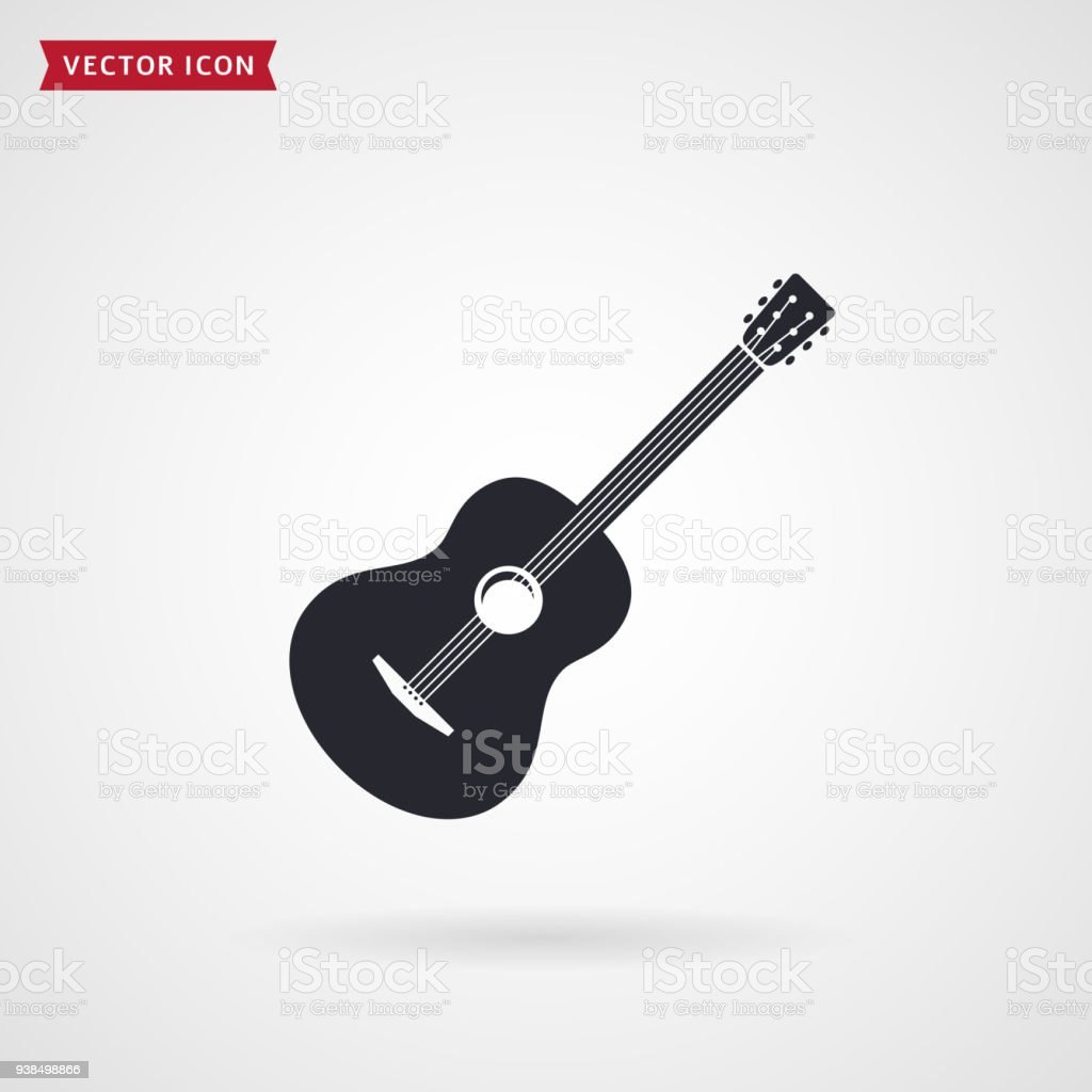 Guitar icon. Vector. vector art illustration